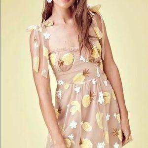 For love and lemons pineapple dress